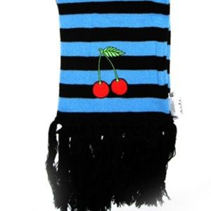 Sourpuss Cherries Striped Scarf Tattoo Rockabilly